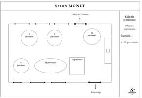 Plan salle mariage domaine saint clair   salon monet