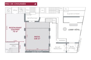 H%c3%b4tel pershing hall   plan des salles rdc