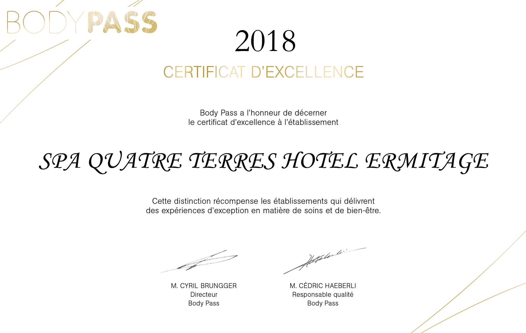 Image newsfeed Le Spa Quatre Terres est récompensé