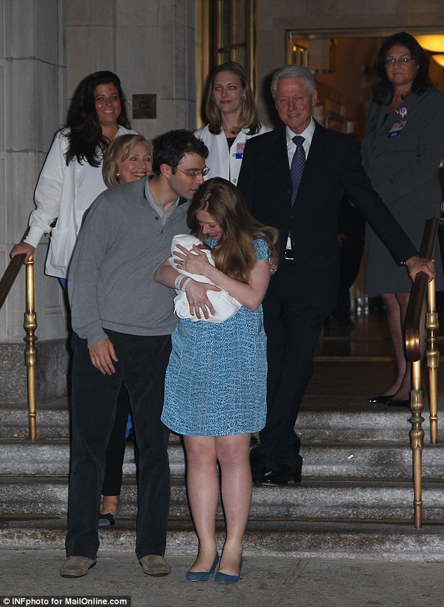 Chelsea clinton baby born