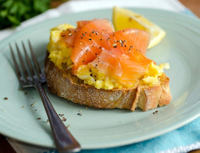 Scrambled Eggs With Smoked Salmon Recipe — Dishmaps