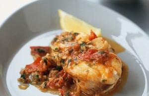Italian Inspired Sauce Over White Fish
