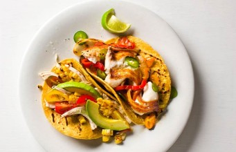 Spicy Fish Tacos with an Avocado and Lime Dressing