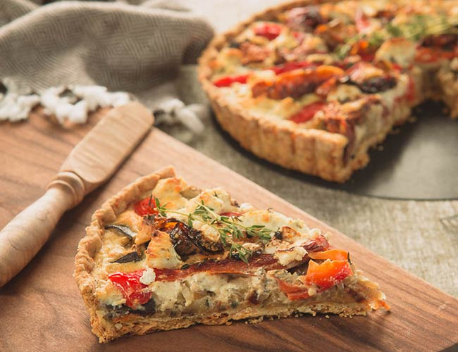 Vegetable Tart with Cheesy Crust