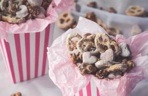 Nutella Popcorn and White Chocolate Pretzels