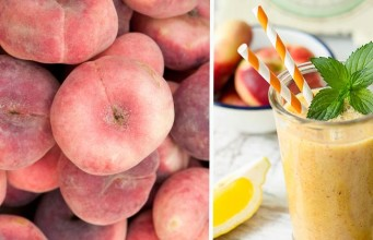 Frothy Peach and Apple Smoothie
