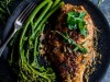 Chicken Breasts with a Parmesan Crust and Herb Sauce