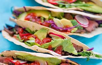 Steak Tacos with Crunchy Coriander Salad and Ballymaloe Jalapeno