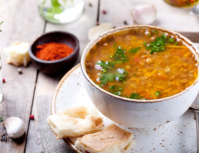 Indian spiced red lentil soupSo delicious youll become addicted