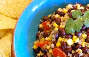 Black Bean Salsa with Roasted Corn