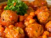 Chicken Meatballs in a Chickpea and Chilli Sauce