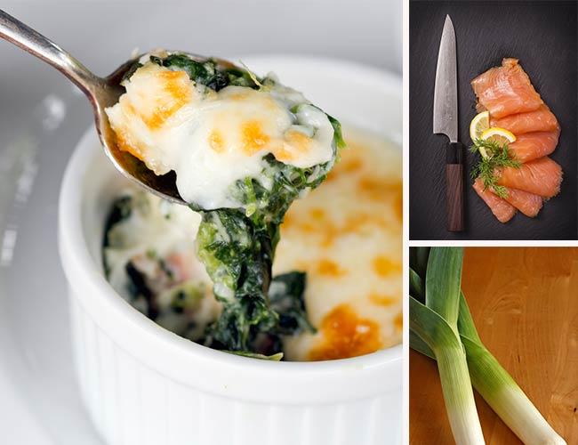 Baked eggs with Irish smoked salmon, veggies & goats cheese: TASTY ...