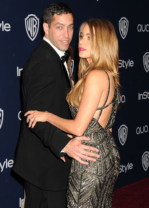 Mandatory Credit: Photo by Broadimage/REX/Shutterstock (3497512s) Nick Loeb and Sofia Vergara 71st Annual Golden Globe Awards, Warner Bros and InStyle After Party, Los Angeles, America - 12 Jan 2014