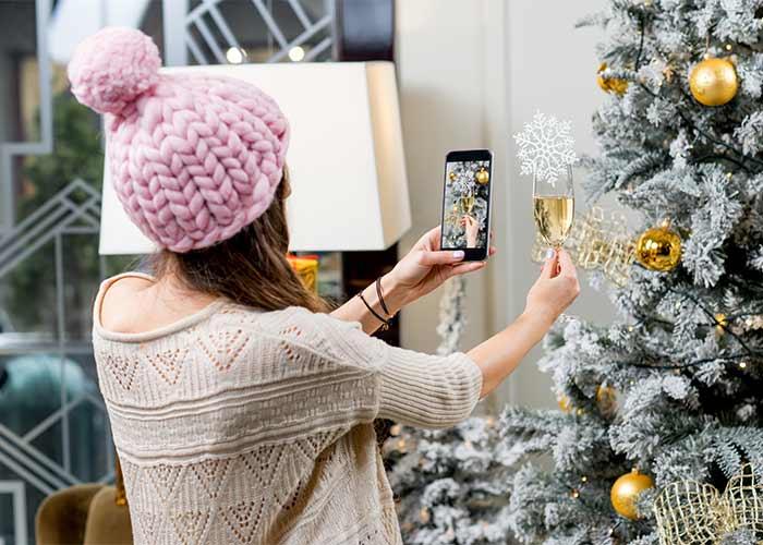 champagne christmas prosecco