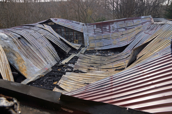 Das Schützenhaus ist komplett zerstört.