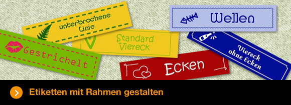 Etiketten mit Rahmen