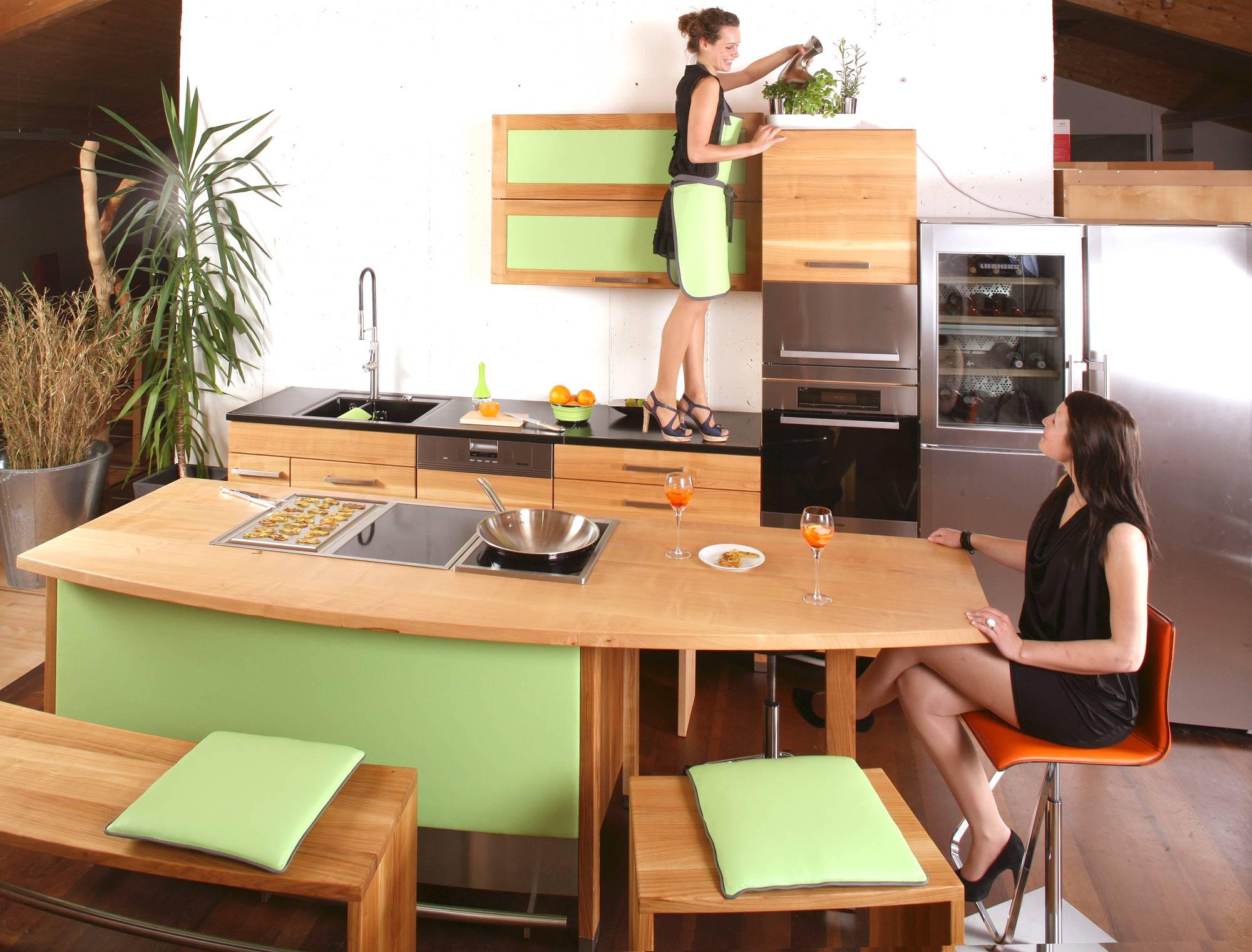 Massivholz Arbeitsplatte Küche