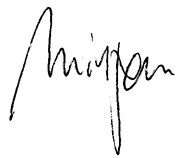 Unterschrift Mirjam