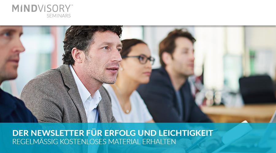 Anmeldung zum MindVisory Seminars Newsletter
