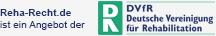 Logo Reha-Recht.de ist ein Angebot der DVfR
