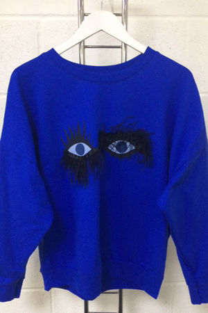 Blue Eyelash Detail Jumper