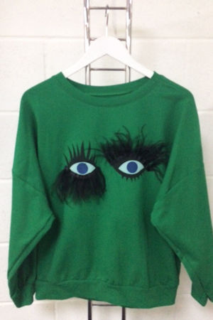 Green Eyelash Detail Jumper