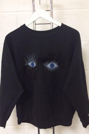 Black Eyelash Detail Jumper