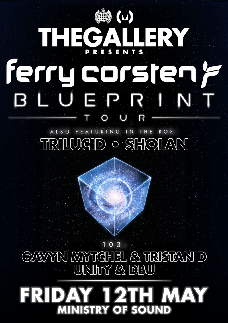 The gallery presents ferry corsten blueprint album launch party friday 12th may 2017 malvernweather Gallery
