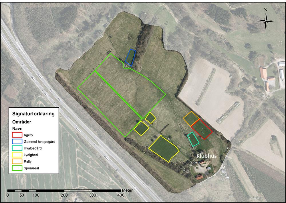 Oversigt over DcH Koldings arealer
