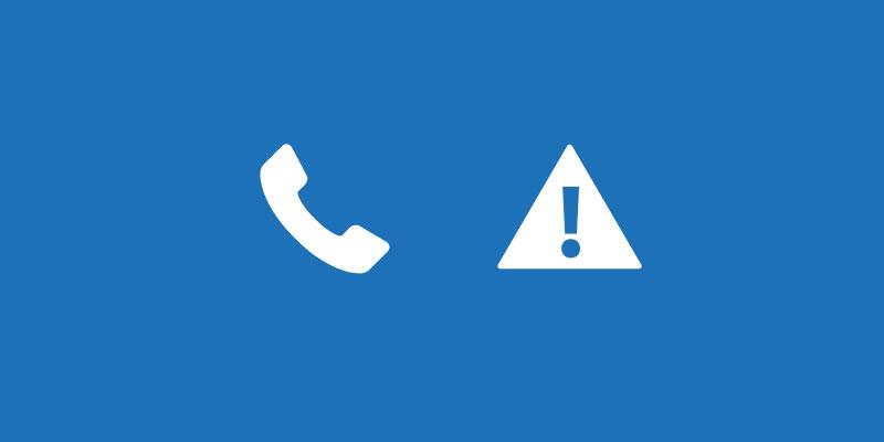 häiriö puhelinjärjestelmässä