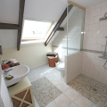 shower en suite in the barn apartment