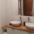 Shower room with double basins