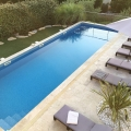 large pool and lots of space to relax and enjoy the quiet surroundings and the plentiful sunshine.