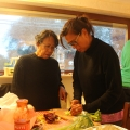 Cooking with our guests