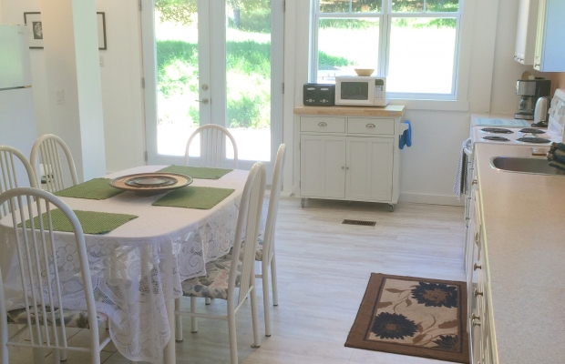Guests may use the kitchen and patio