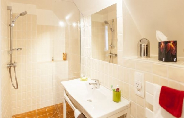Your bathroom with its walk-in shower