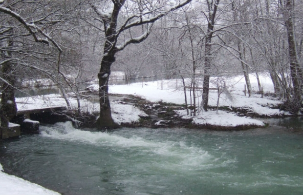 White water in winter