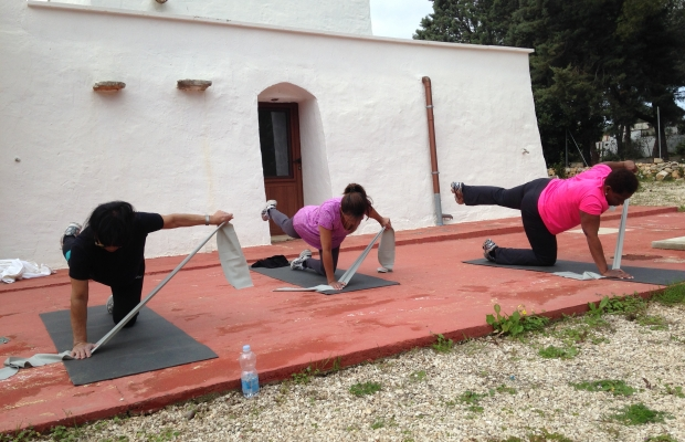 A workout with our guests