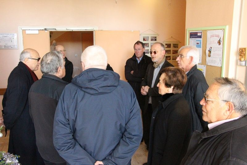 Les membres du CA visitant l'EHPAD Saint-Barthélemy