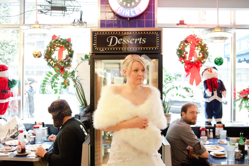 Skylight Diner, New York, Manhattan, Alternative Wedding Photography, New York Times