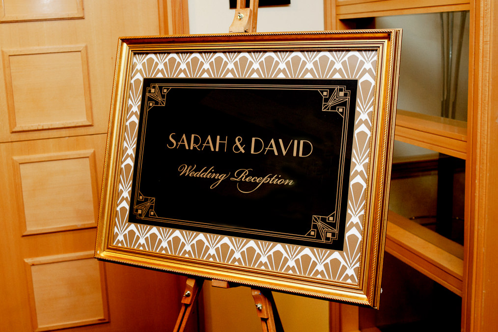 Sarah & dave Wedding reception