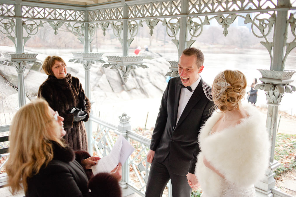 Ladies Pavilion Central Park, New York Alternative Wedding Photography