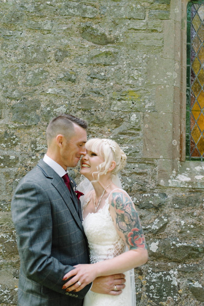 Brogues Rock n roll Bride Tattoo bride Ludlow countryside wedding shropshire Clee St Margaret Village Hall Craven Arms Shropshire Gabrielle Bower Photography Nottinghamshire Alternative Wedding Photographer Nottingham Alternative wedding photographer Shropshire Peaky Blinders Alternative worksop wedding photographer