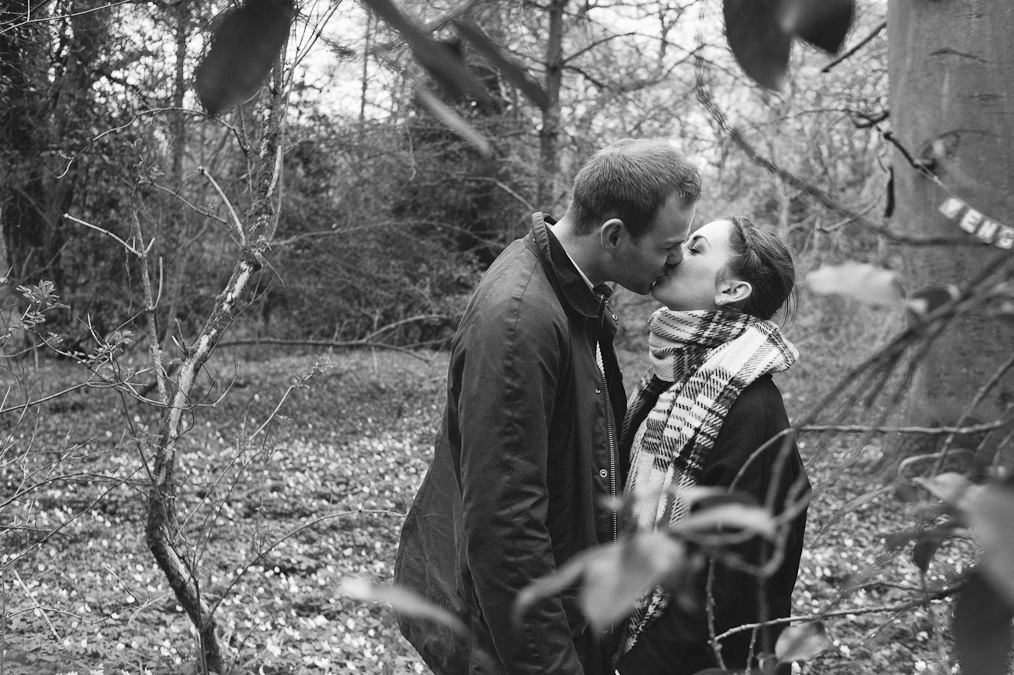 Katie & Andrew's Engagement Shoot Beverley. The Westwood, Quirky Photography, Alternative Photography, Redhead, Hunter Wellies, Barbour, Woods.