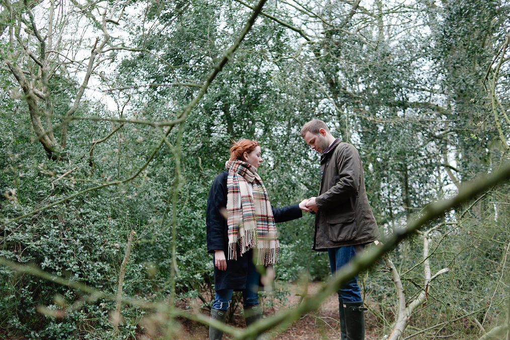 Engagement shoot Beverley Hull. The Westwood Quirky, Woods, Red Head, Hunter Wellies