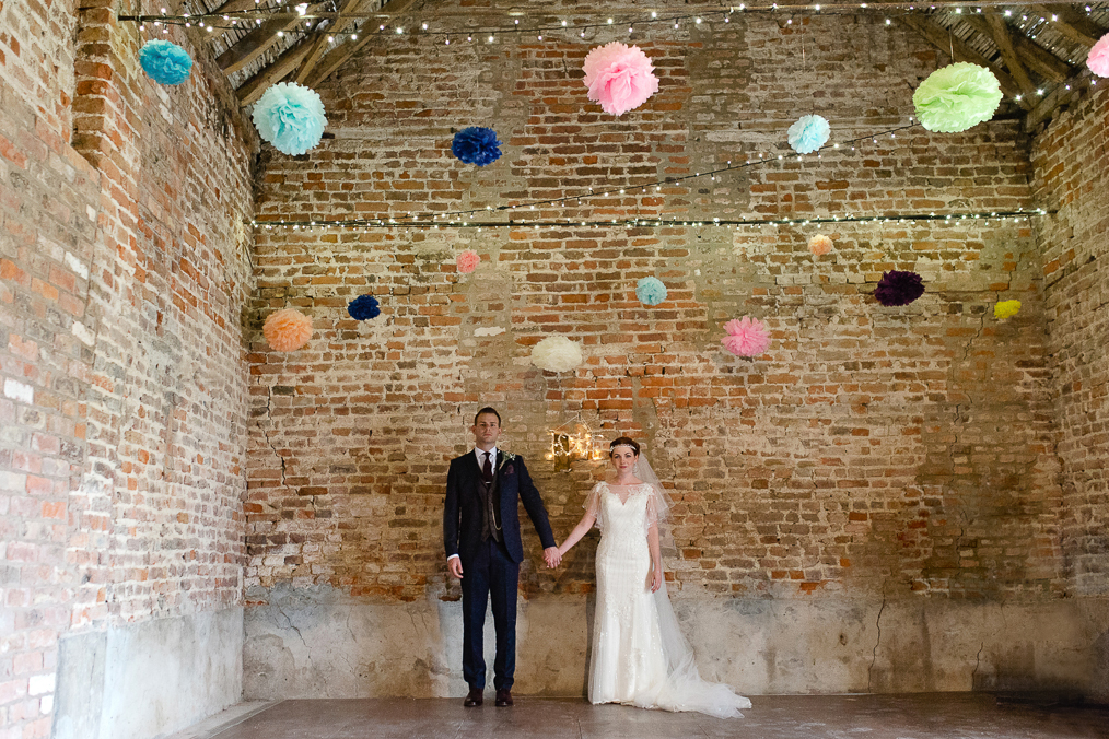 Alternative Beverley wedding photographer Tipi wedding, Pom Poms. Barn wedding