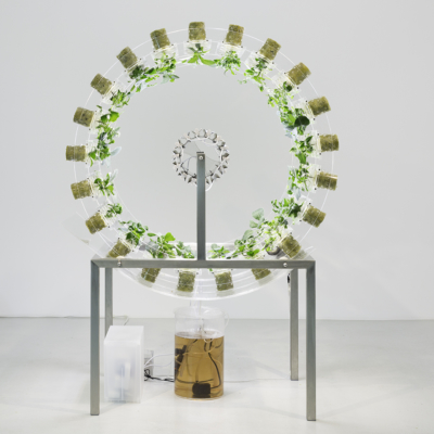 nick laessing. plant orbiter. mixed media. 2017