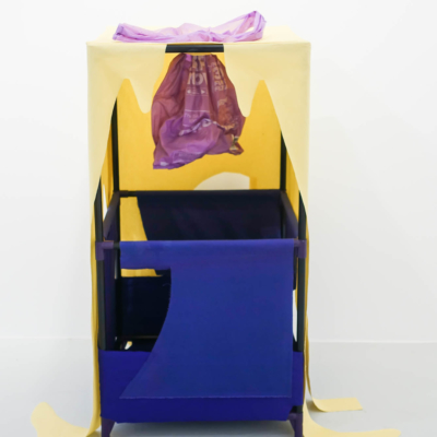 The Promise (Purple), fabric, aluminum & plastic, 2018.