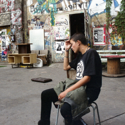 Seana. Mariannenplatz squat, Berlin 1996. 16 x 12 in