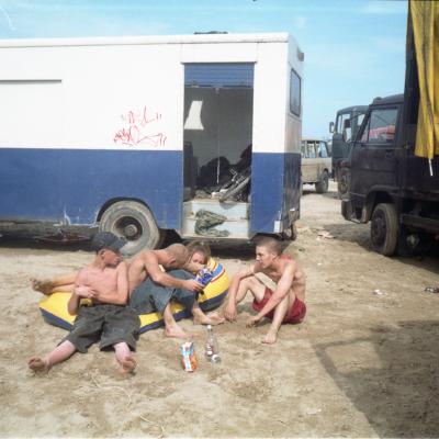 Narbonne beachnival, 2000. 30 x 40in